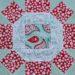 Der Rabe im Schlamm, 6 Köpfe 12 Blöcke, Quilt, Quiltblock, Rolling Stone, Patchwork