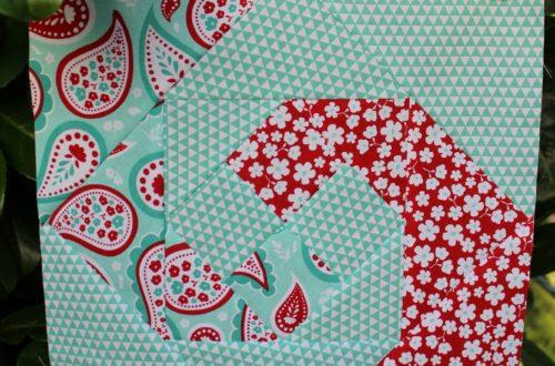 Der Rabe im Schlamm, Quiltblock, Quilt, Patchwork, Sewing, Nähen, 6 Köpfe 12 Blöcke, Snails Trail