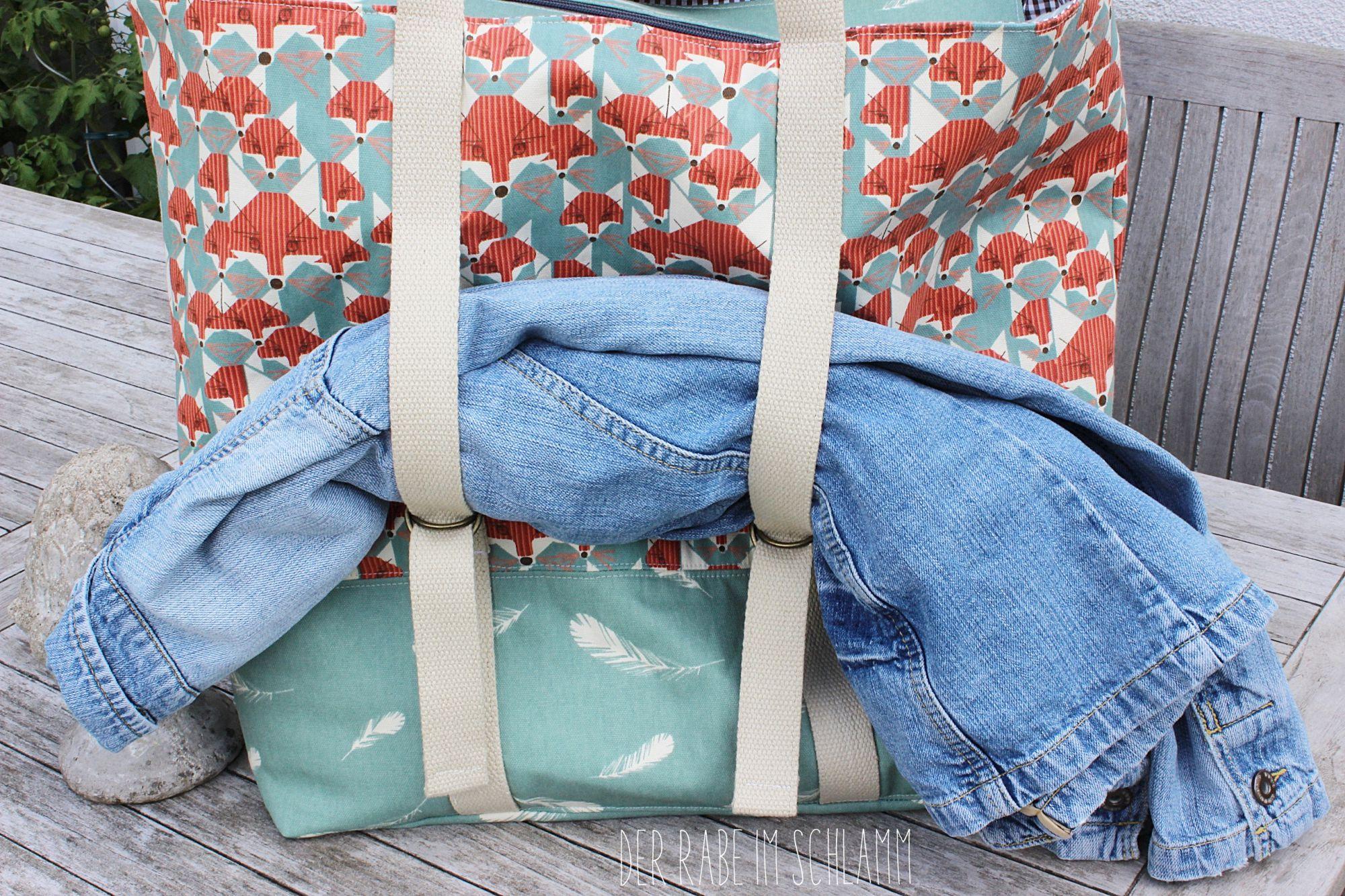 Allroundtasche Svea, Strandtasche, Shopper,  Der Rabe im Schlamm, Nähen, Taschen