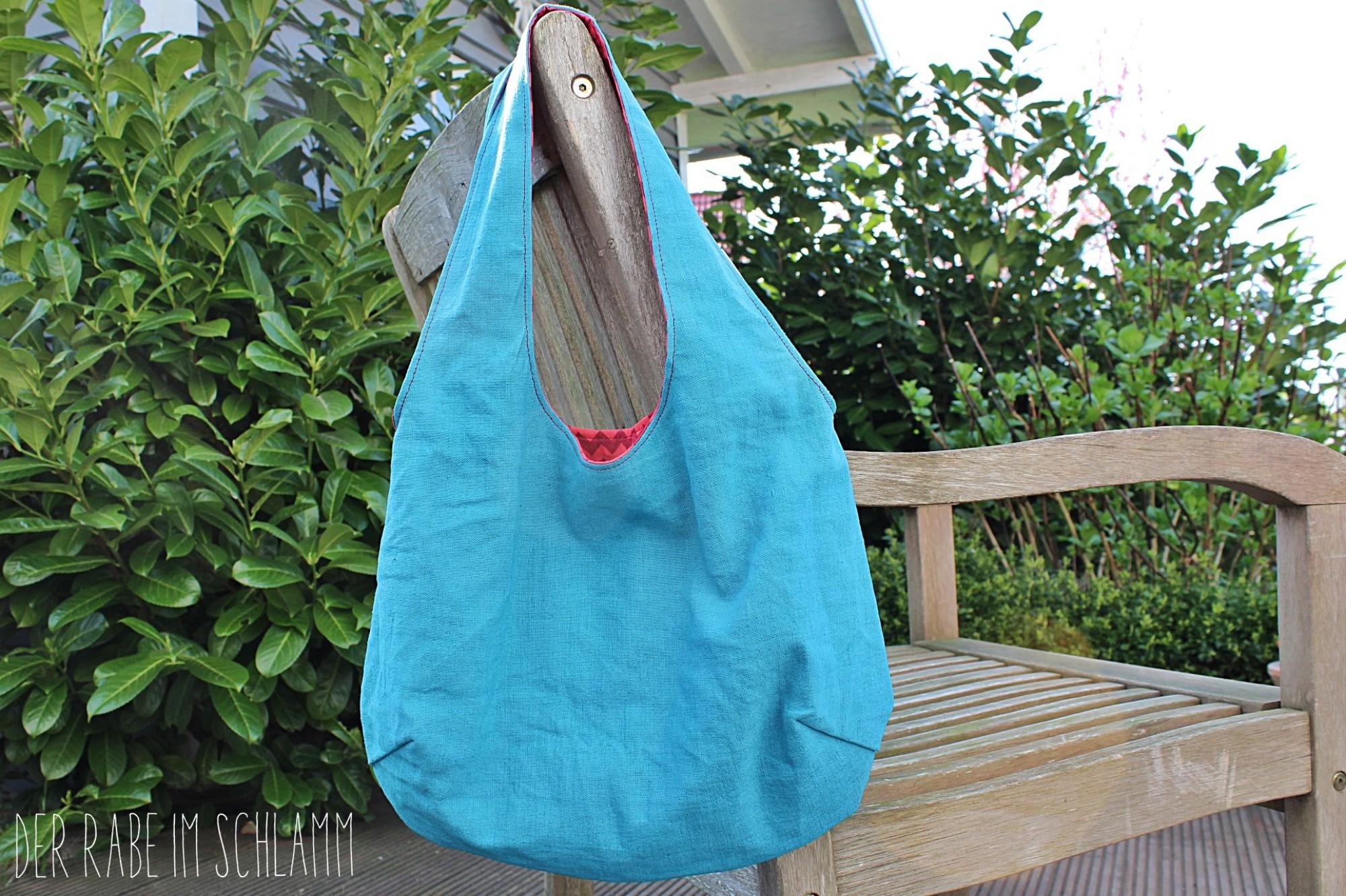 altes Leinen, Der Rabe im Schlamm, Nähen, Taschen, Reversible Bag