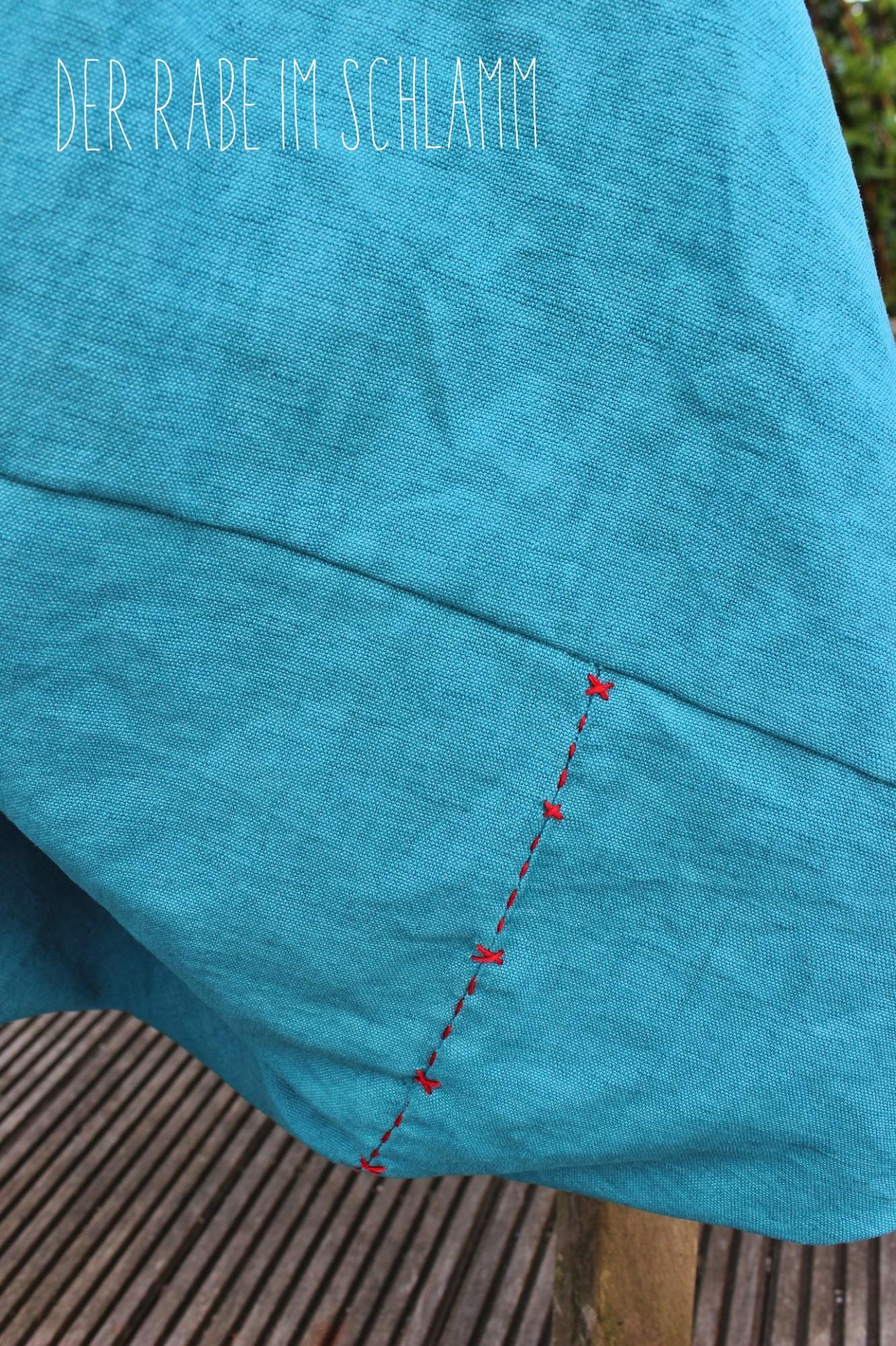altes Leinen, Der Rabe im Schlamm, Nähen, Taschen, Origami Bag