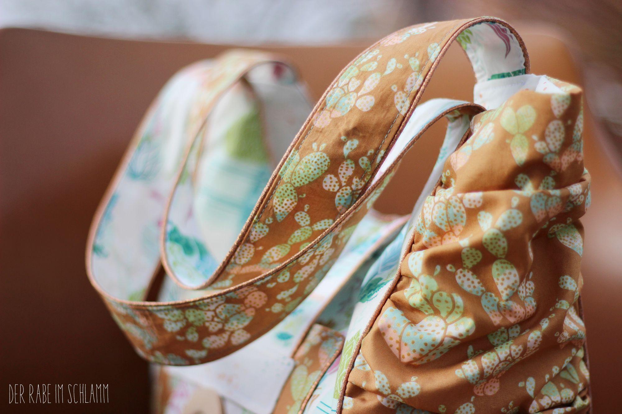 Big Beach Bag, Succulence farbrics, Der Rabe im Schlamm, Nähen, Taschen