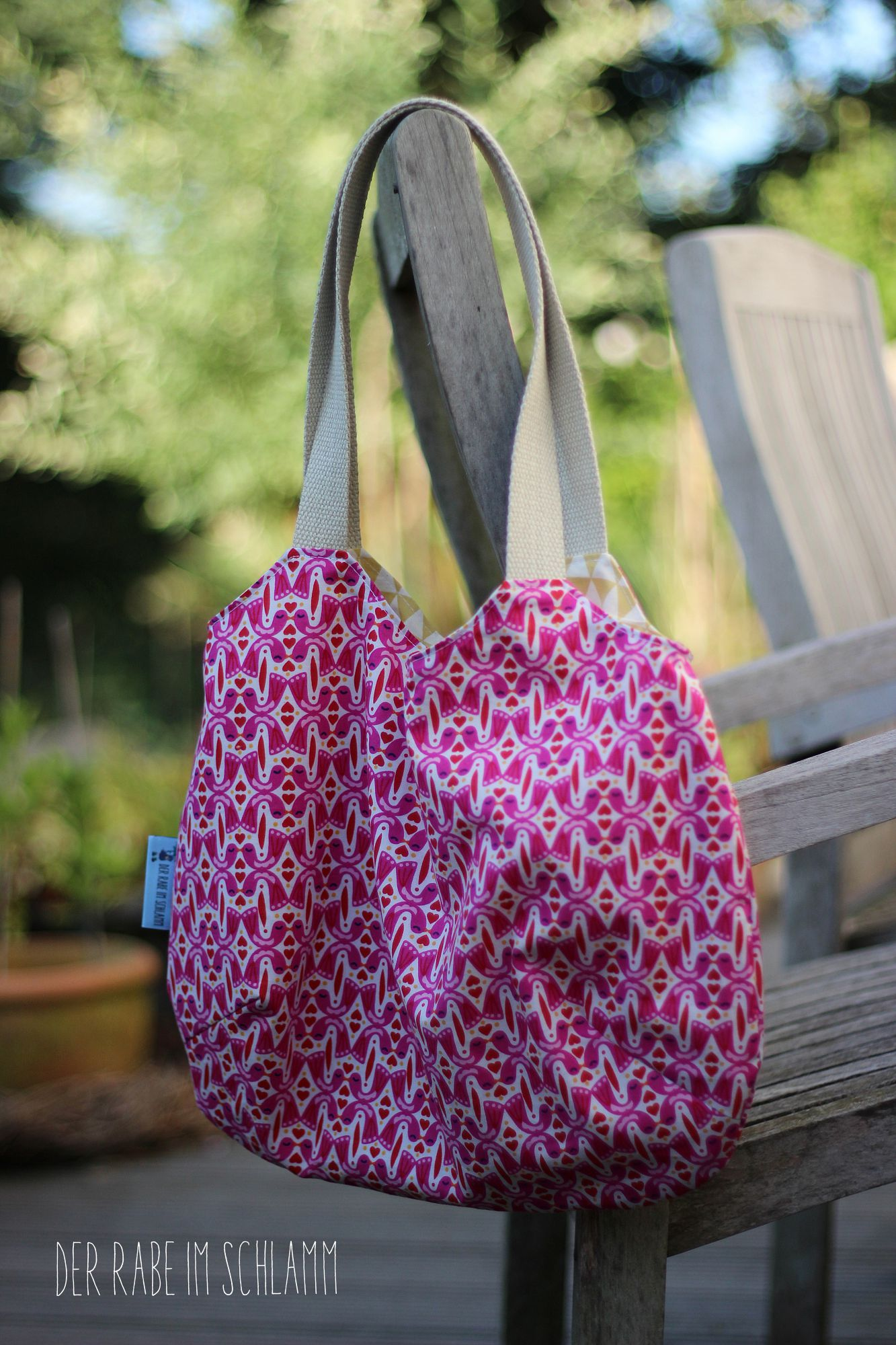 Der Rabe im Schlamm, Nähen, Taschen, Charlie Bag, Reversible Bag, Very Purple Person, Einkaufsbeutel