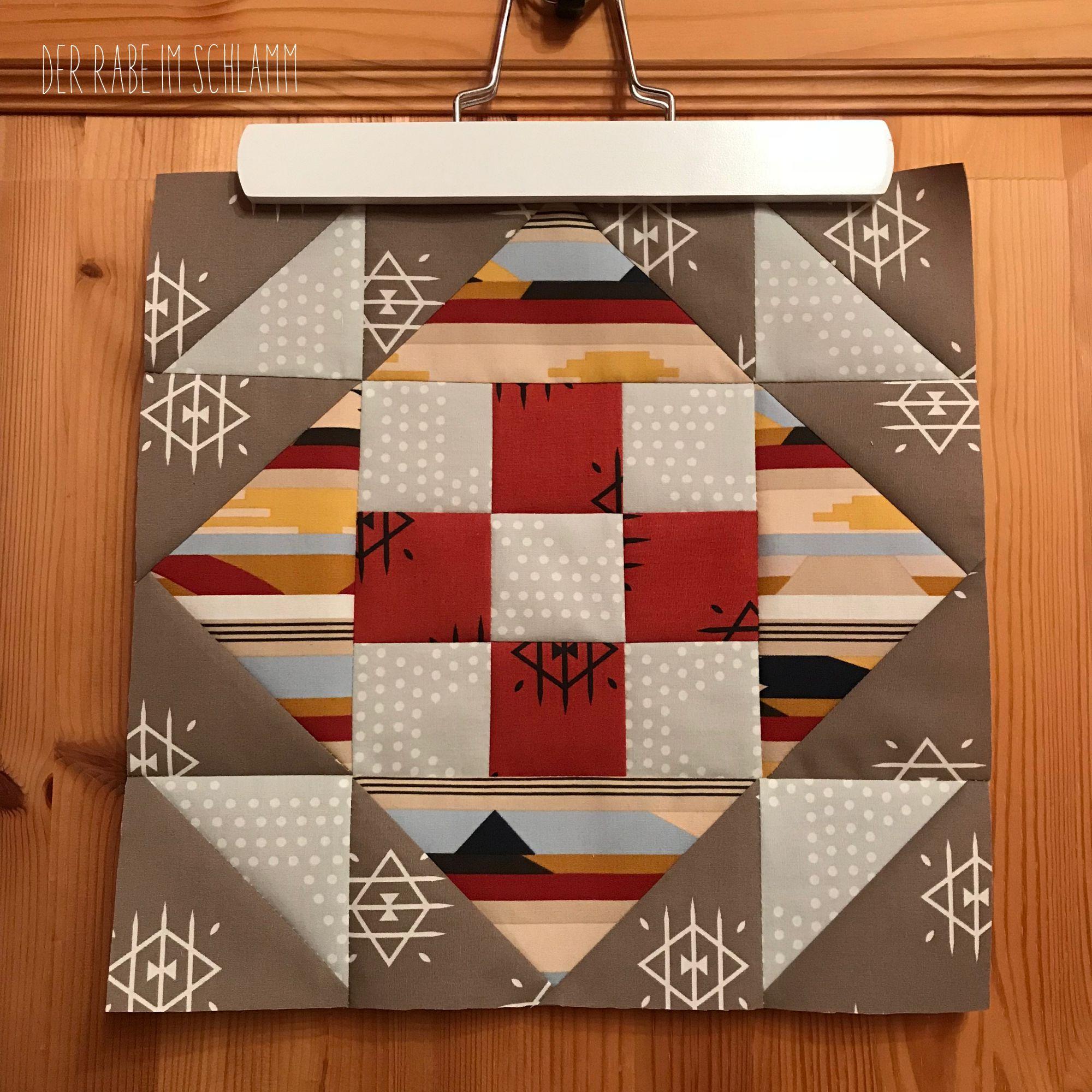 Der Rabe im Schlamm, Quilt, Patchwork, Quiltblock, Community Sampler, Quilt Along, Art Gallery Fabrics, Arizona After, April Rhodes