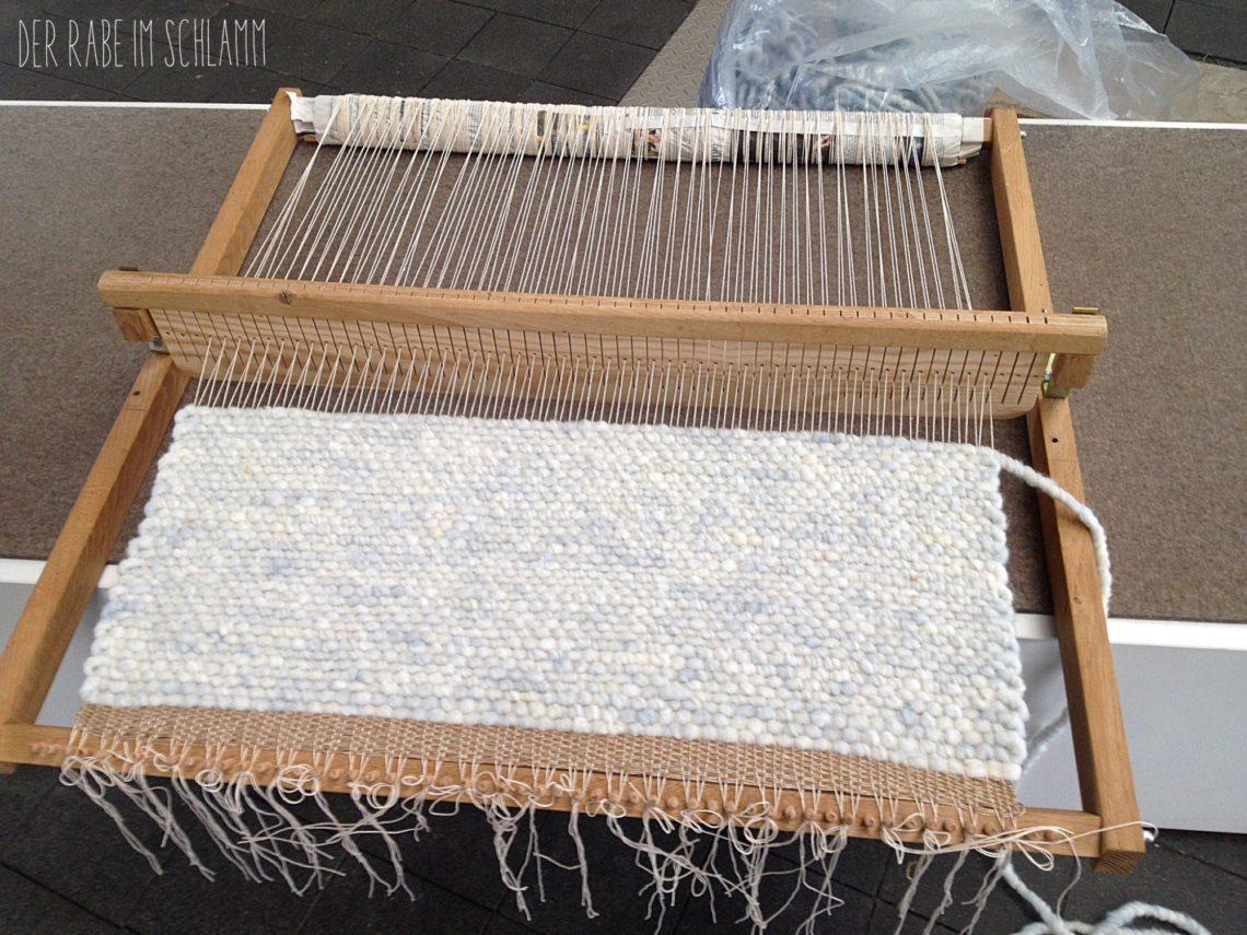 Teppich, DIY, Weben, Schafwolle, Der Rabe im Schlamm
