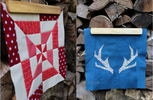 Der Rabe im Schlamm, Quiltblock, Windmill Block, Antlers, Patchwork, Quilt, Fall Block Party, fabricdotcomblockparty