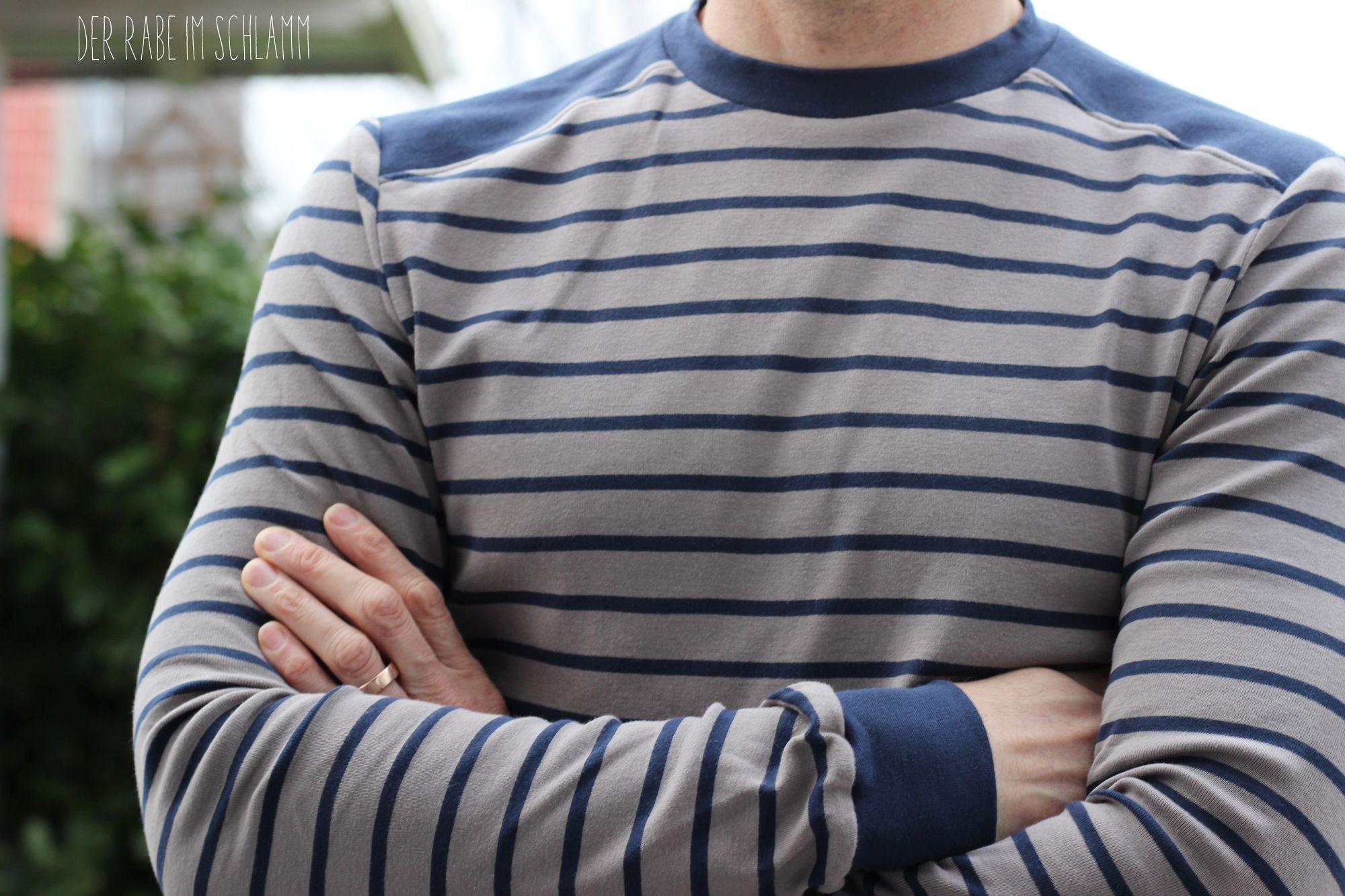 Der Rabe im Schlamm, Shirt, Männer, Herren, Nähen, Schnittmuster