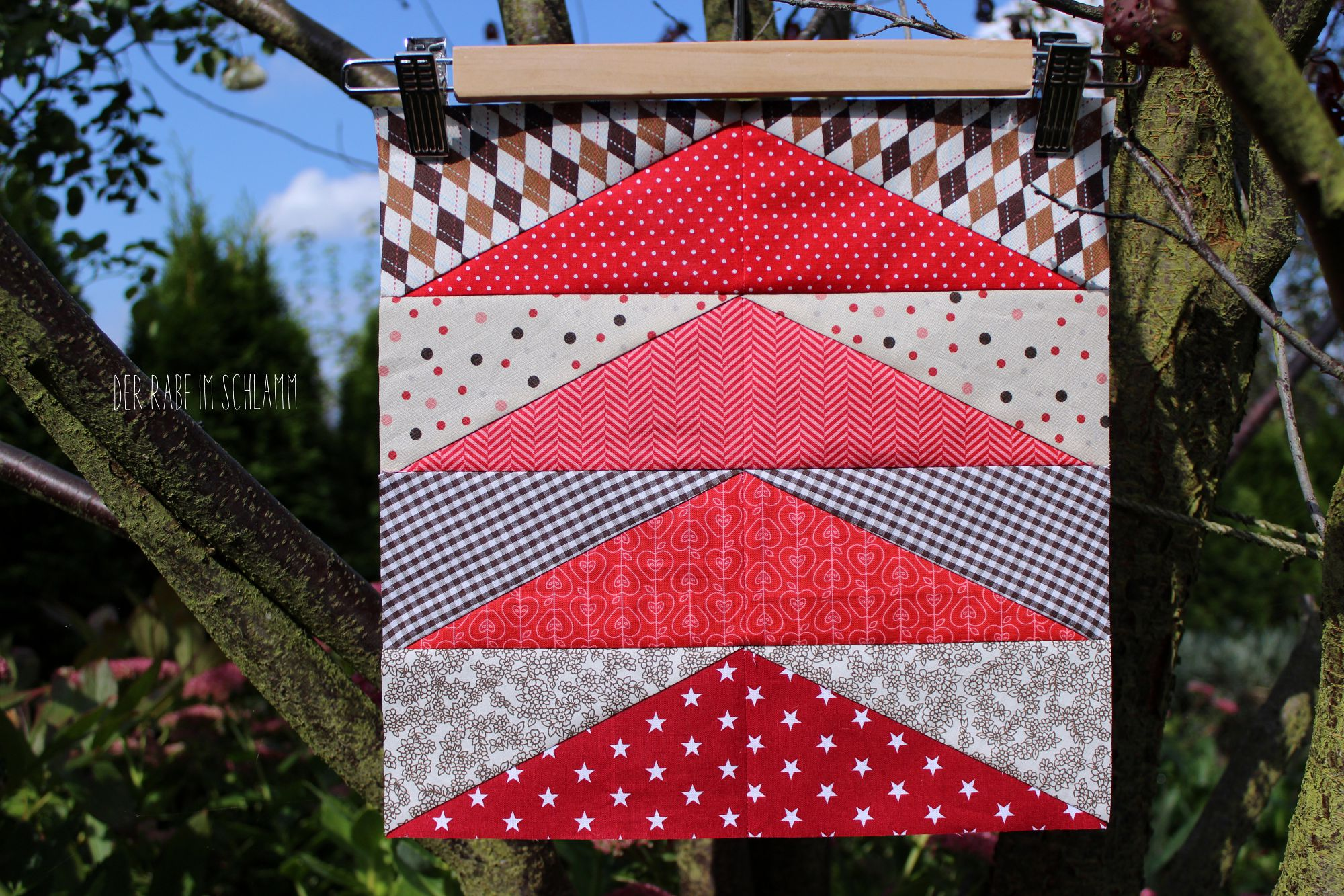 Der Rabe im Schlamm, Quiltblock, Fall Geese, Patchwork, Quilt, Fall Block Party, fabricdotcomblockparty, Herbstquilt