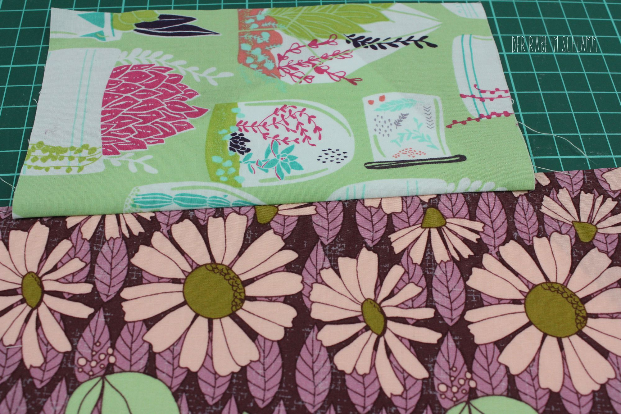 Der Rabe im Schlamm, Tutorial, Anleitung, Nähen, FPP, Foundation Paper Piecing, Tischläufer, Succulence Fabric, Quilt