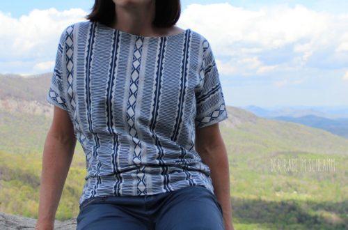 Frau Edda, Der Rabe im Schlamm, Shirt, Damen, Schnittmuster, nähen, Art Gallery Fabrics