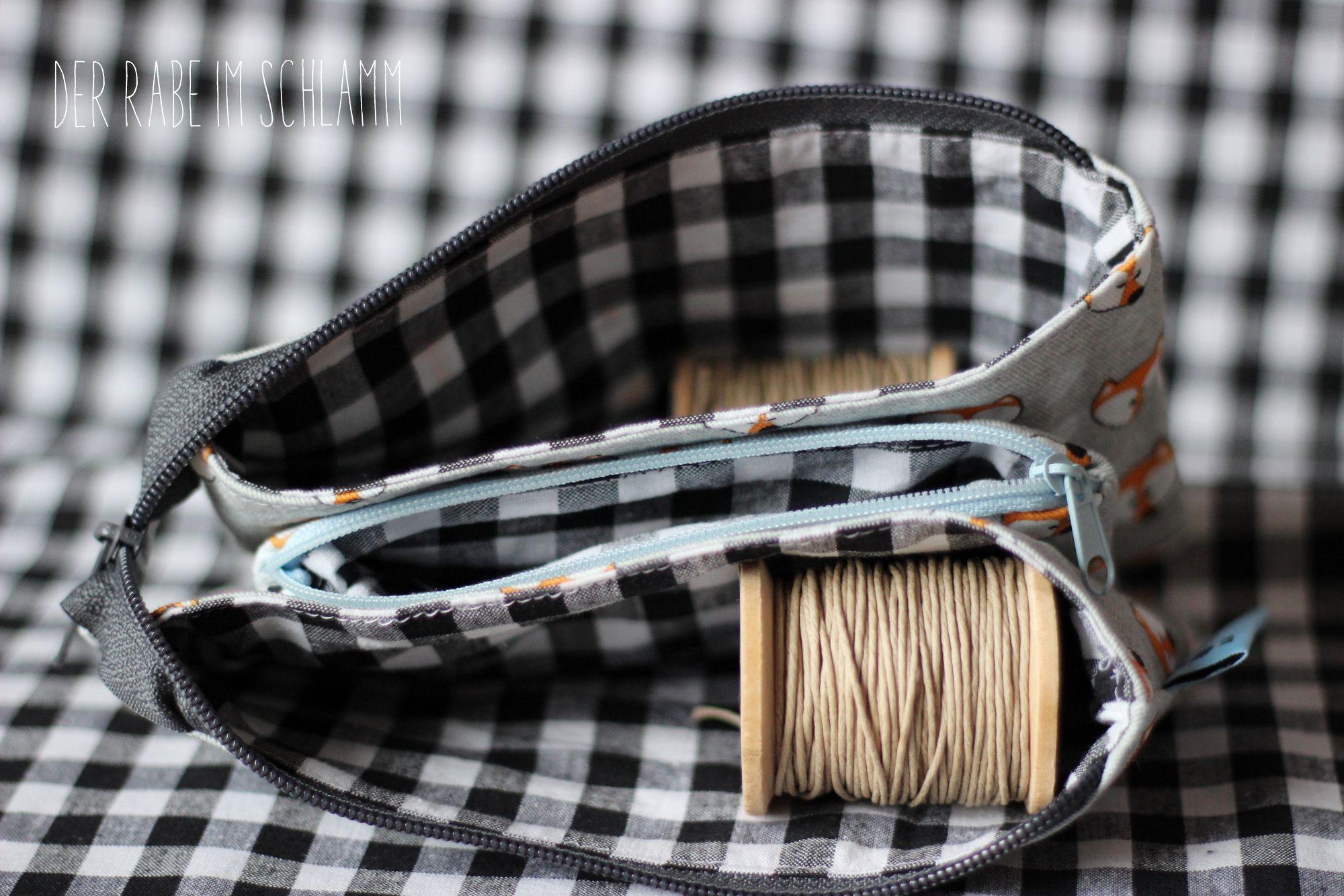 Der Rabe im Schlamm, Geldbeutel, Taschenspieler 3, farbenmix, Nähen, Taschen