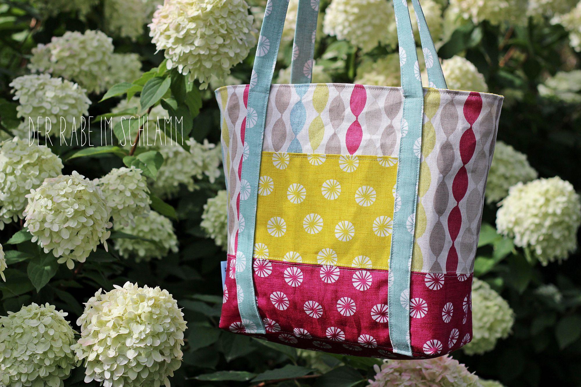 Handtasche Svea, Der Rabe im Schlamm, Nähen, Taschen