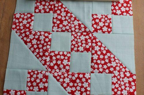 Quiltblock, Quilt, Patchwork, 6 Köpfe 12 Blöcke, Der Rabe im Schlamm, Jacob´s Ladder