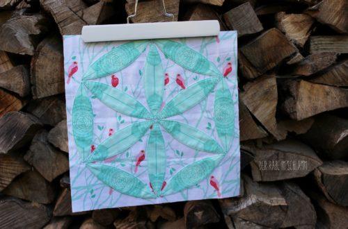 Quiltblock, Quilt, Patchwork, 6 Köpfe 12 Blöcke, Der Rabe im Schlamm, Joseph´s Coat