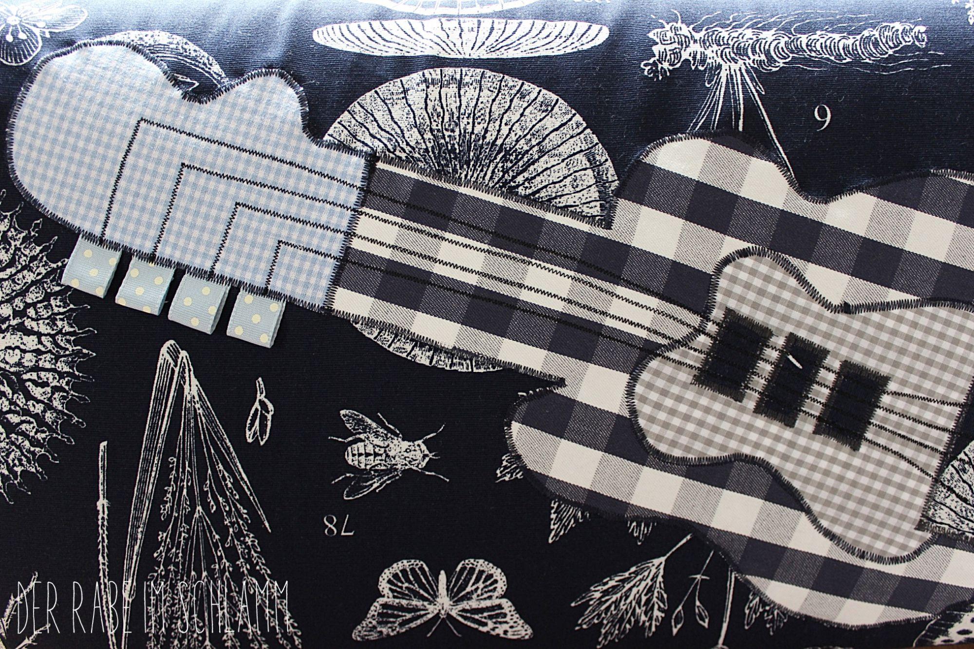 Der Rabe im Schlamm, Nähen, Kissen, Gitarre, Bodenkissen