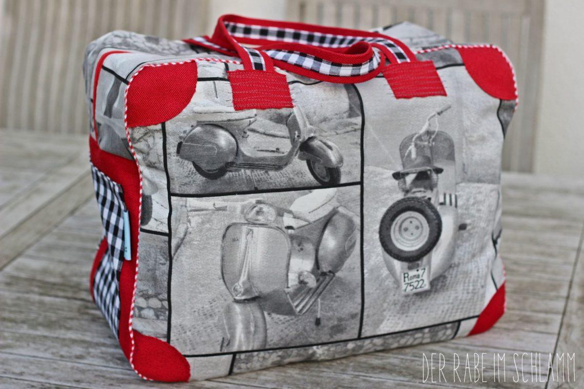 Reisetasche, Weekender, Kinderkoffer, Der Rabe im Schlamm, Nähen, Taschen