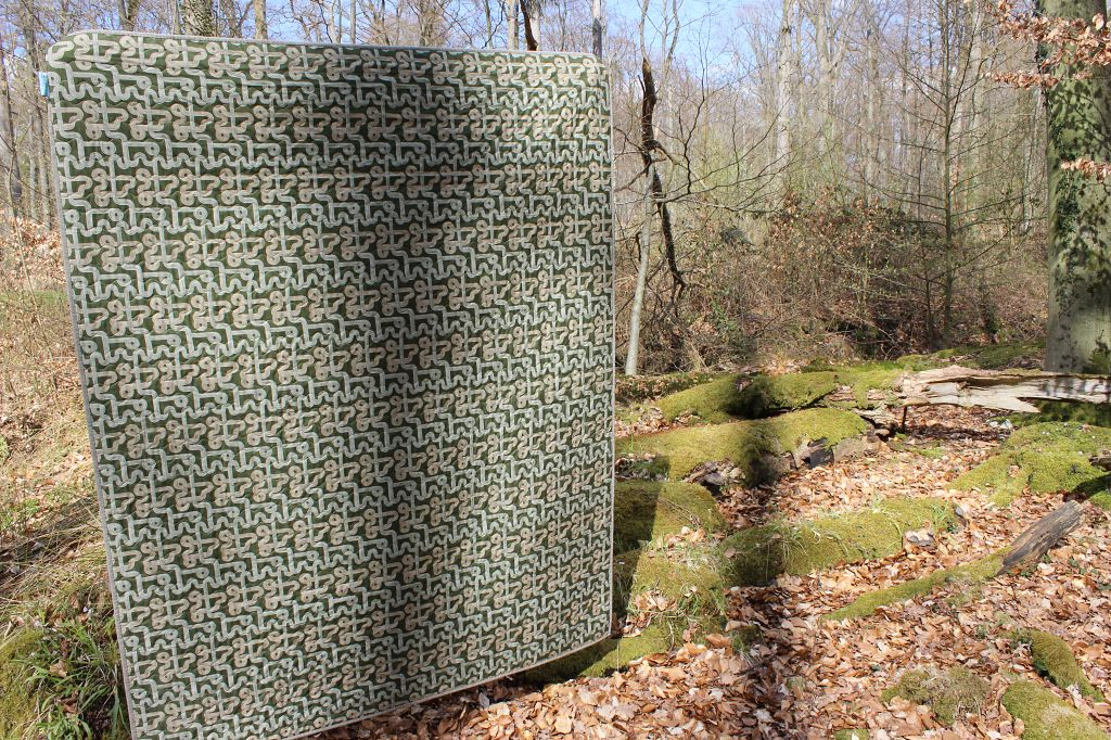 The Open Road Fabric Quilt Der Rabe im Schlamm
