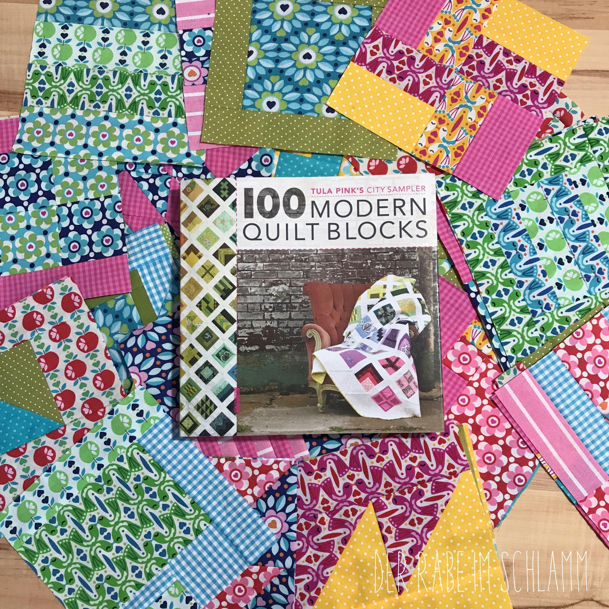 Der Rabe im Schlamm, Patchwork, Quilt, Quilt Along, Tula Pink, 100 Modern Quilt Blocks, Jolijou, Surprise Surprise