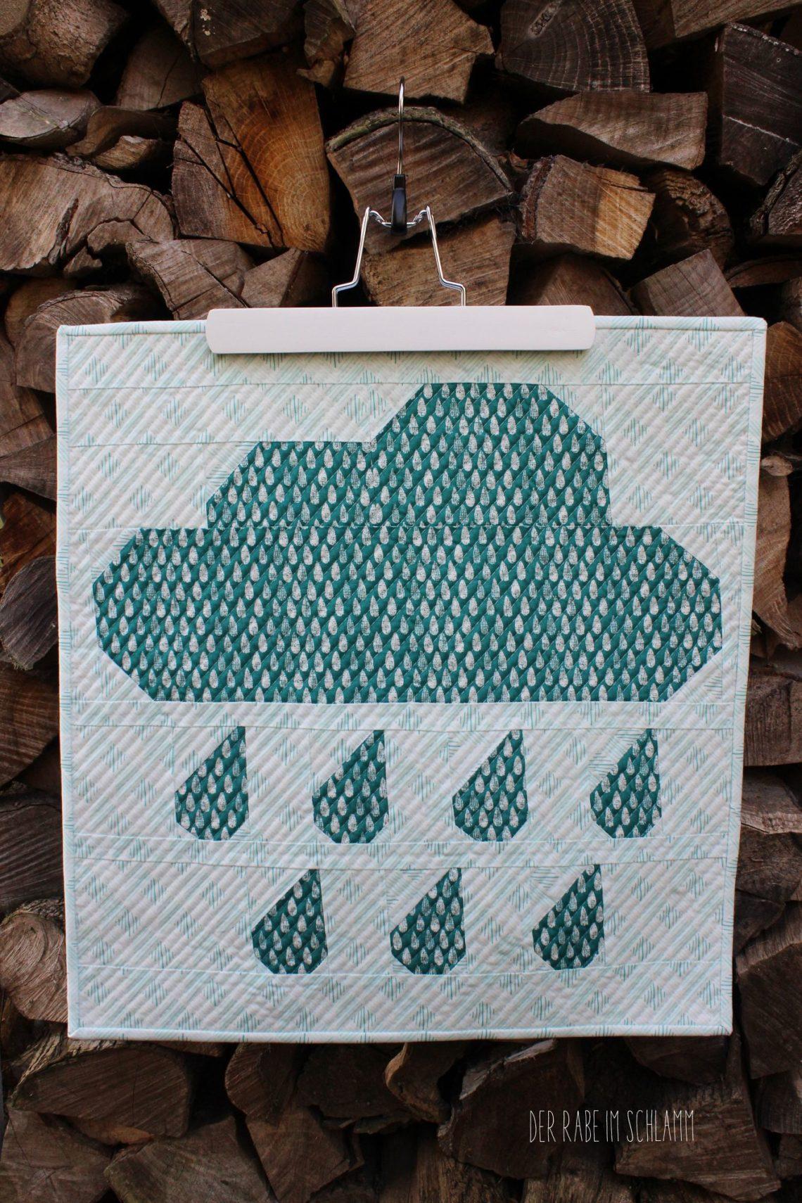 Der Rabe im Schlamm, Miniquilt, Rainy Days, ellis & higgs, Quilt