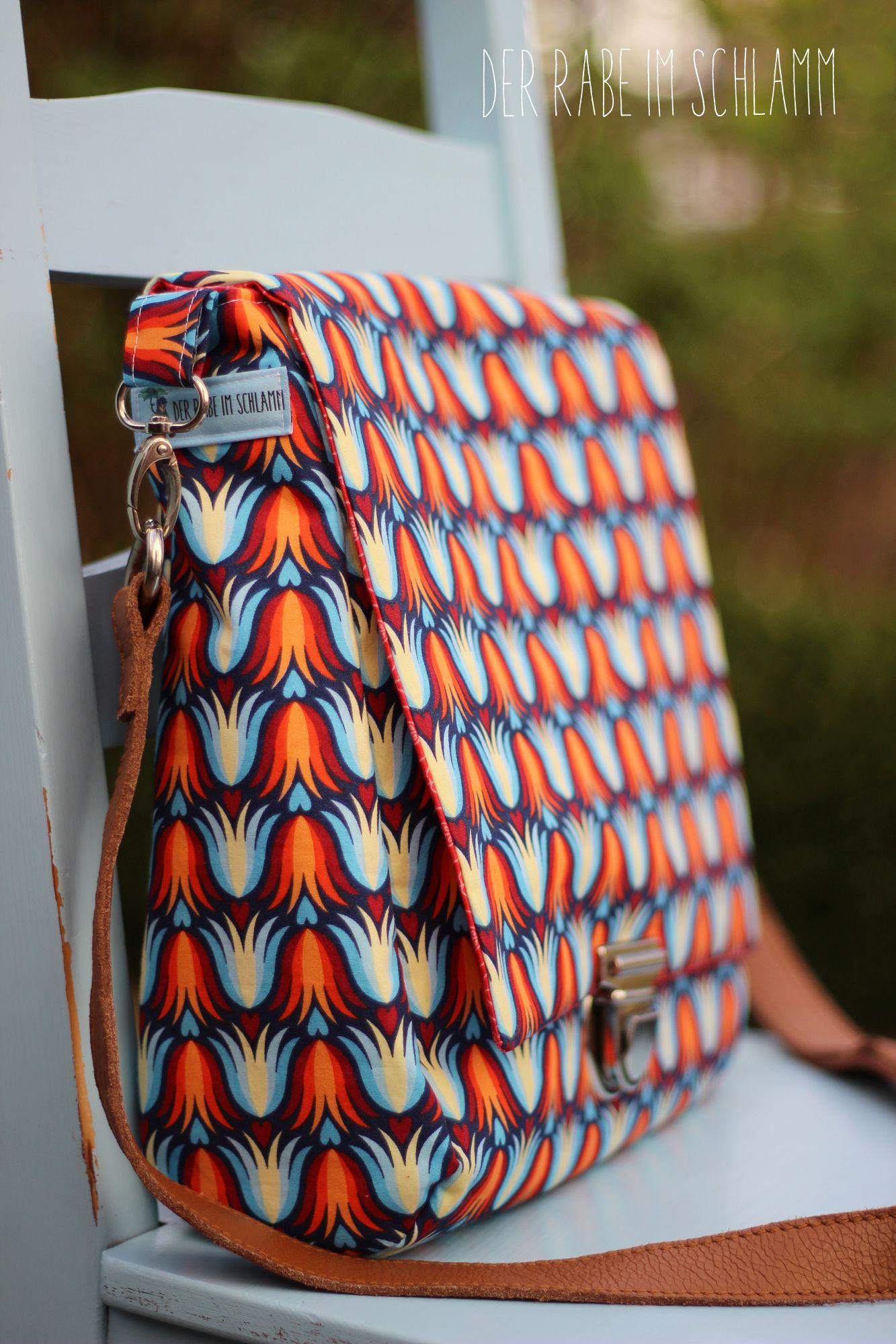 Der Rabe im Schlamm, Retrotasche, Taschenspieler 3, farbenmix, Nähen, Taschen