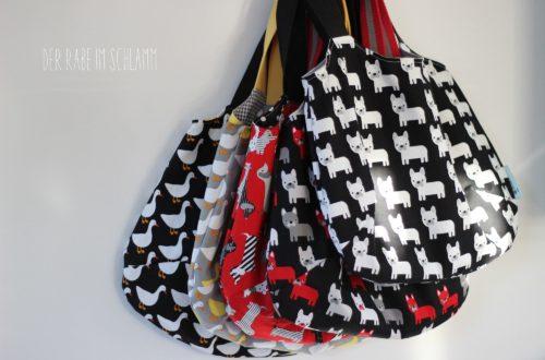 Der Rabe im Schlamm, Nähen, Taschen, Reversible Bag, Charlie Bag