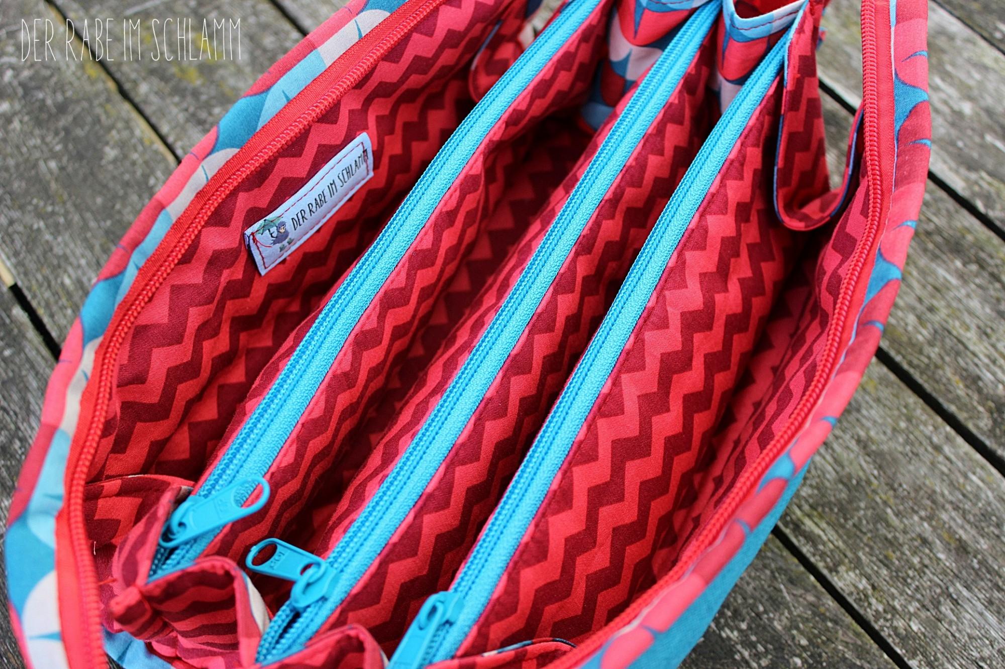 Sew Together Bag, Reißverschlusstasche, Kosmetiktasche,  Der Rabe im Schlamm, Nähen, Taschen