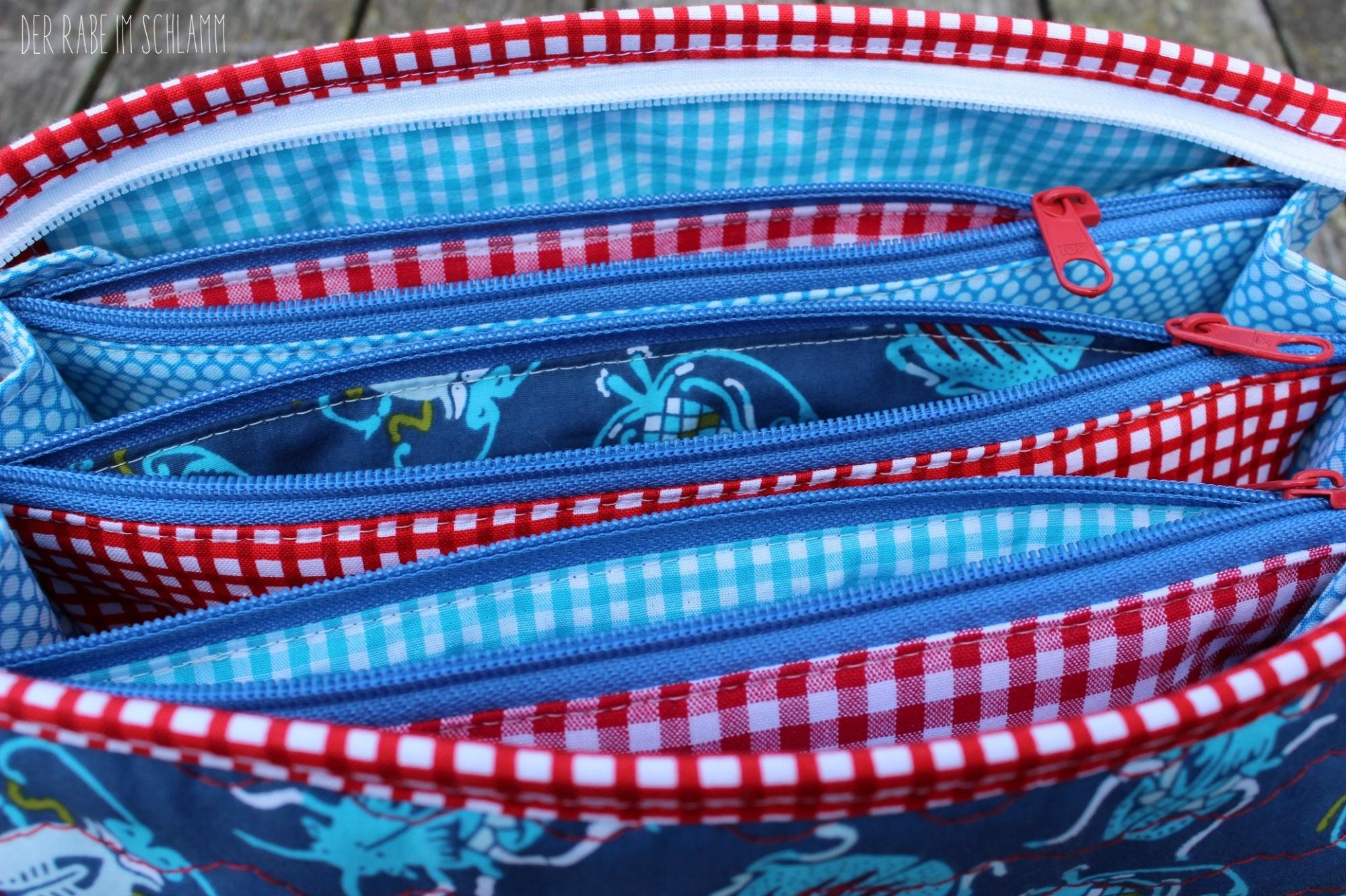 Sew Together Bag, Geschenk, Kosmetiktasche, Mäppchen,  Der Rabe im Schlamm, Nähen, Taschen