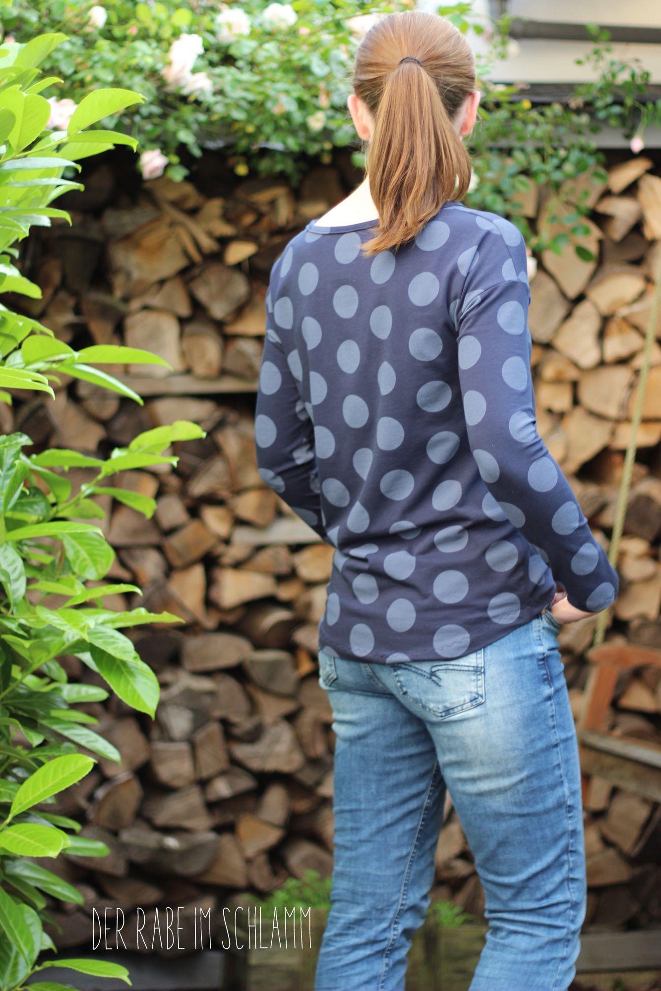 Der Rabe im Schlamm, Shirt, Nähen, Schnittmuster, Damen, Big Dots