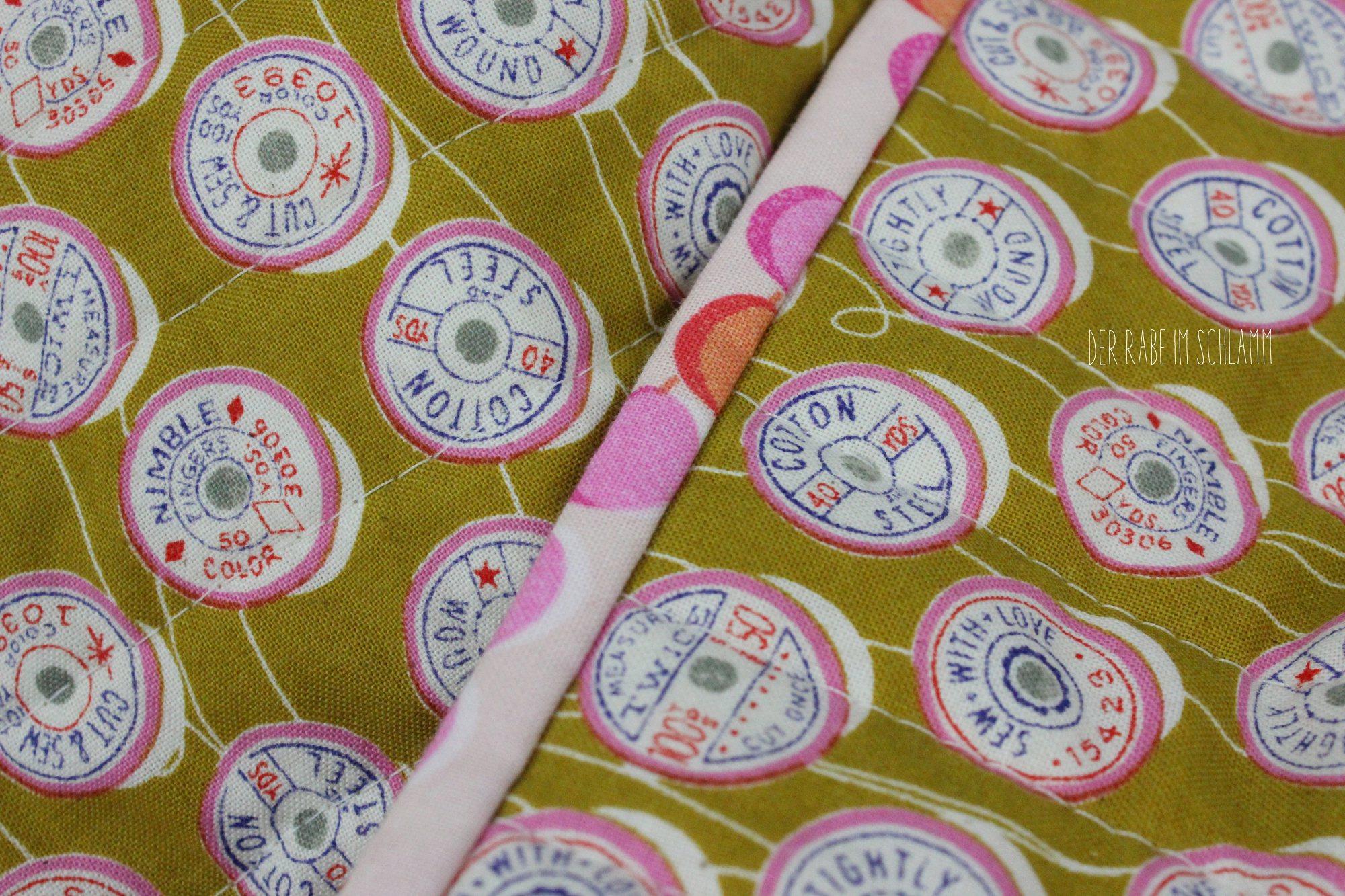 Der Rabe im Schlamm, Spool Soufflé Quilt, Spool Quilt, Quilt, Patchwork, Trinket, Cotton and Steel, Melody Miller