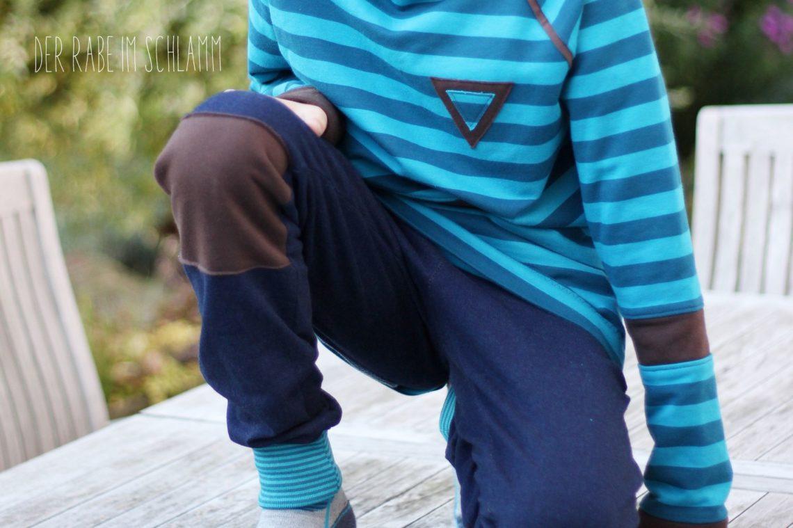 Sweathose, Sweater, Jogginganzug, Der Rabe im Schlamm, Nähen, Schnittmuster, Kinder, Jungen
