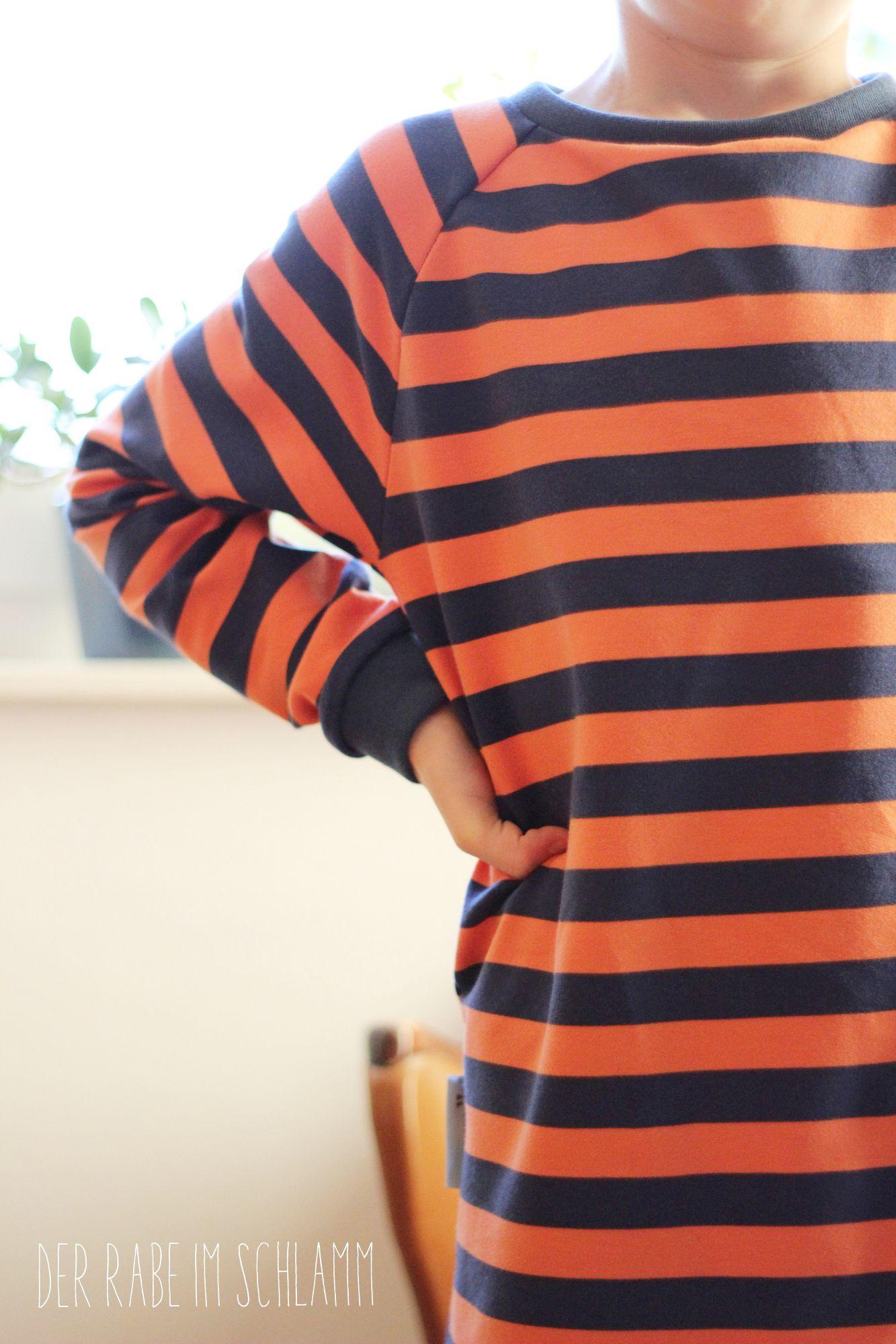 Sweathose, Sweater, Pyjama, Der Rabe im Schlamm, Nähen, Schnittmuster, Kinder, Jungen