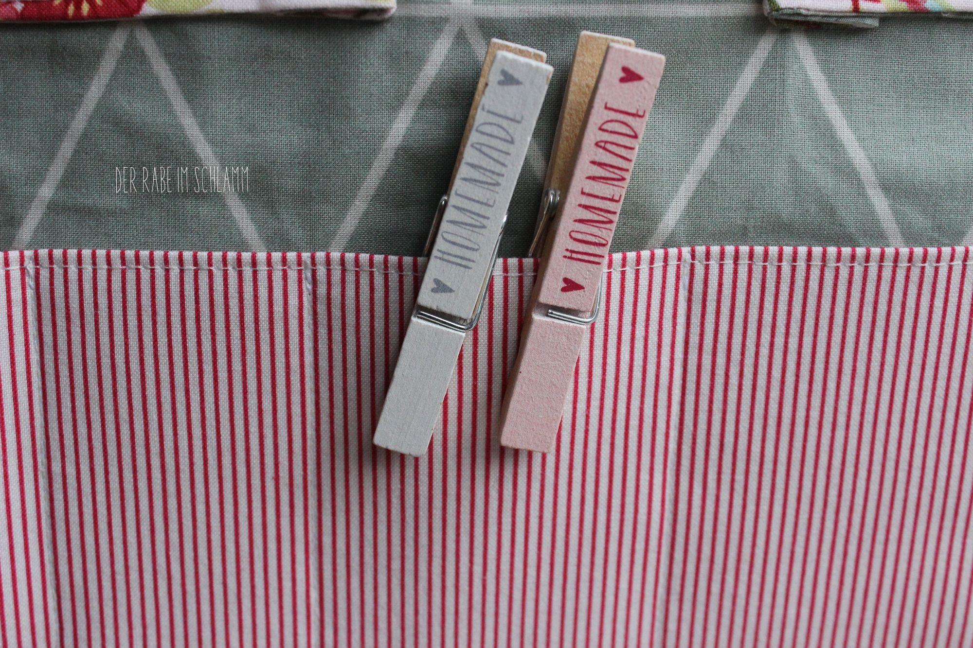 Der Rabe im Schlamm, Tasche, Wandutensilo, nähen, DIY