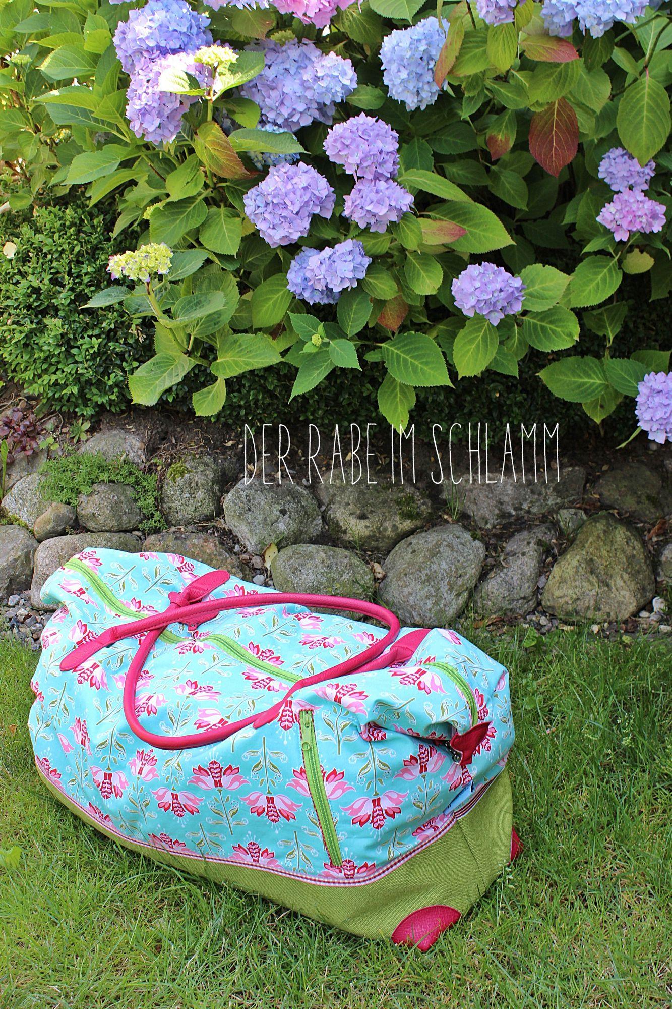 Reisetasche, Weekender, Der Rabe im Schlamm, Nähen, Taschen