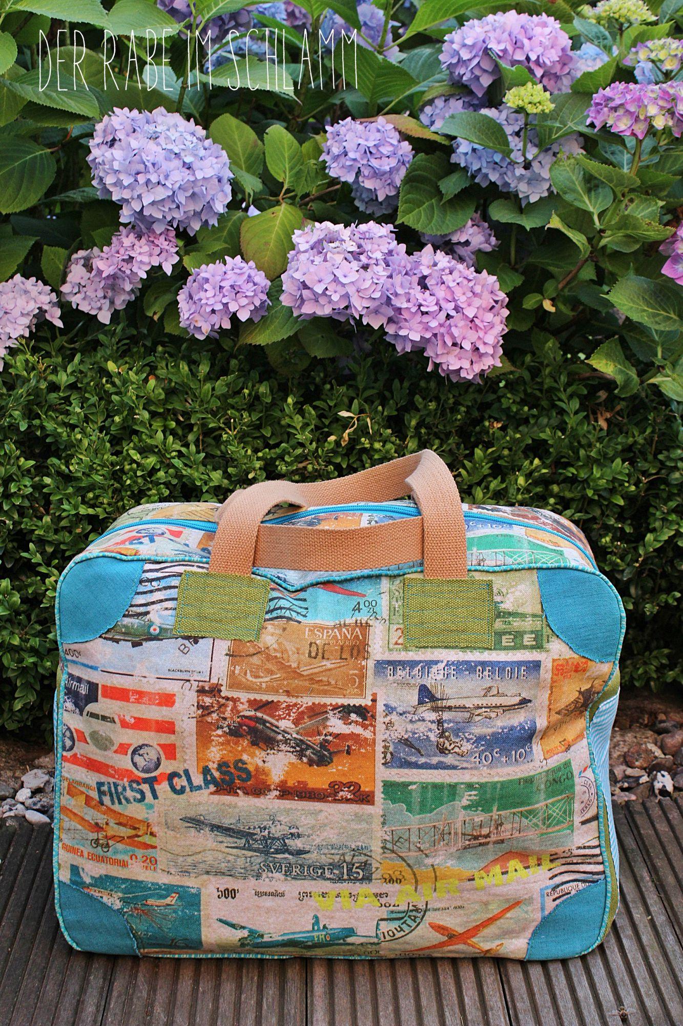Kinderkoffer, Reisetasche, Weekender, Der Rabe im Schlamm, Nähen, Taschen