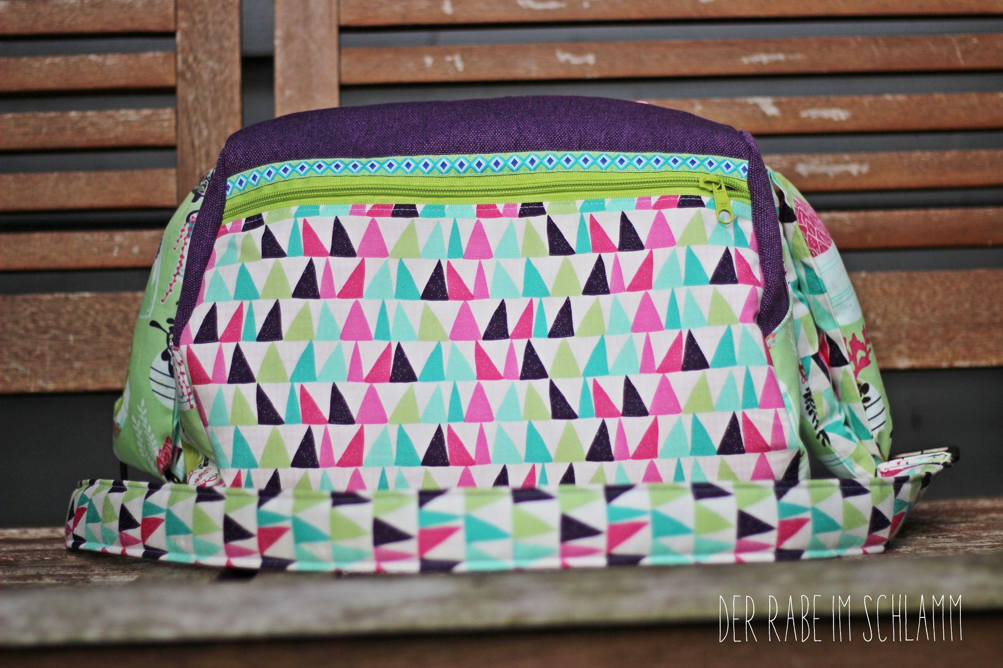 Der Rabe im Schlamm, Zylindertasche, Taschenspieler 3, farbenmix, Nähen, Taschen